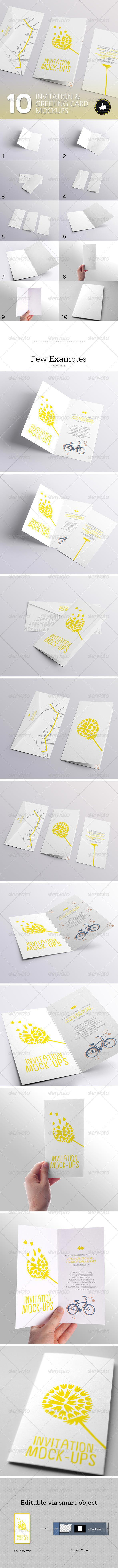 10 Invitation & Greeting Card Mockups