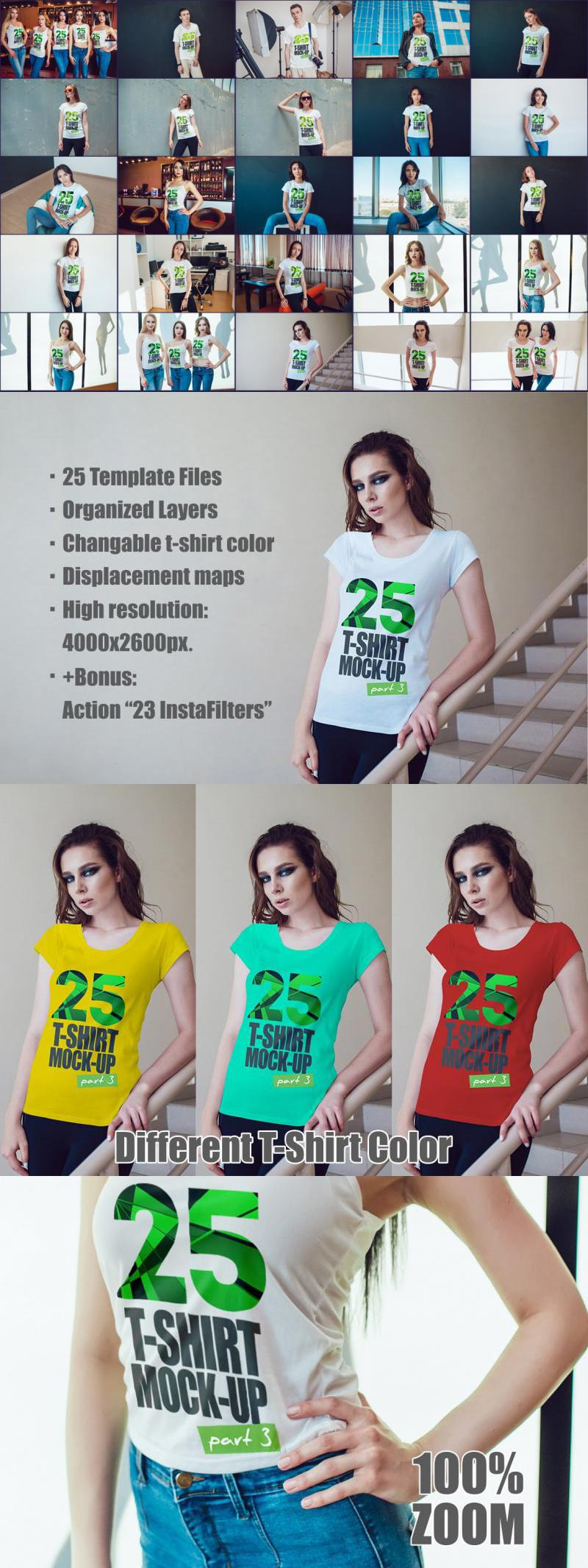 25 T-Shirts Mock-Up (Part 3)