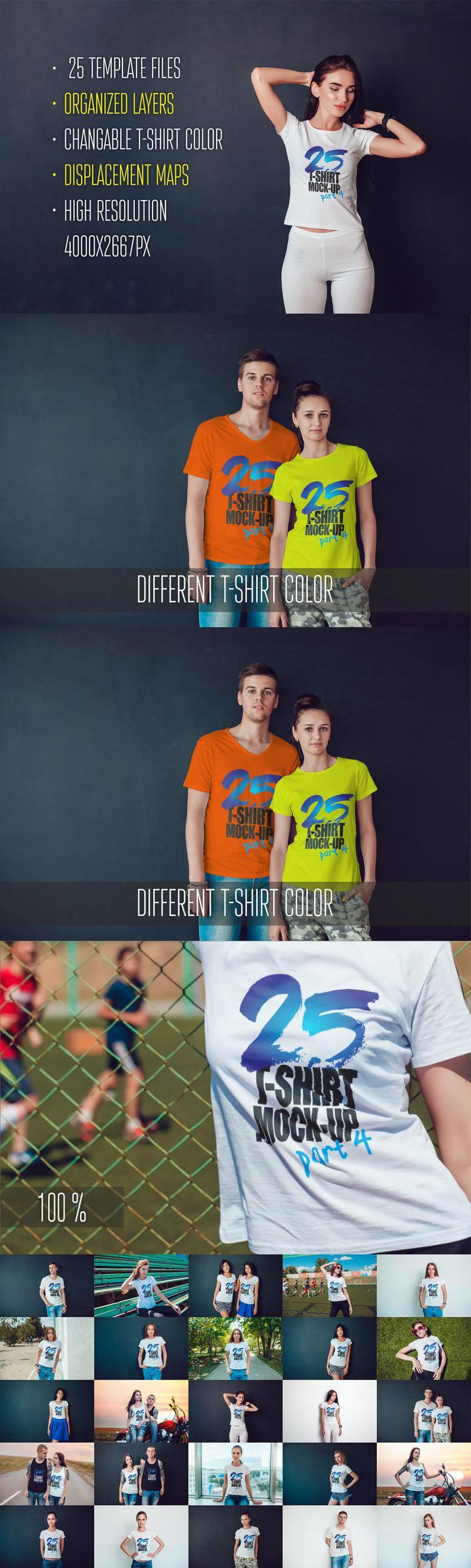 25 T-Shirts Mock-Up (Part 4)