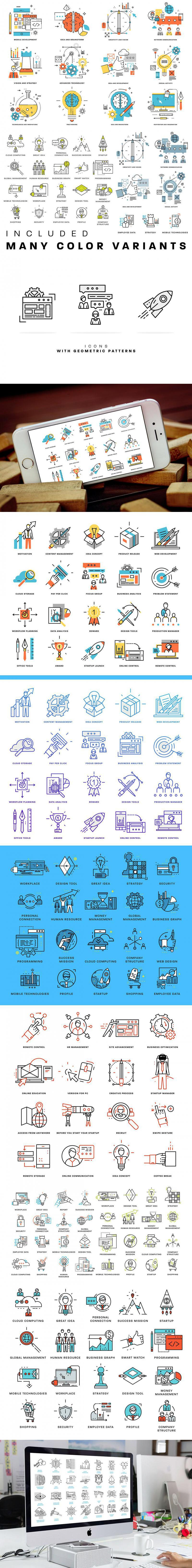 350 Line Business Icons Collection