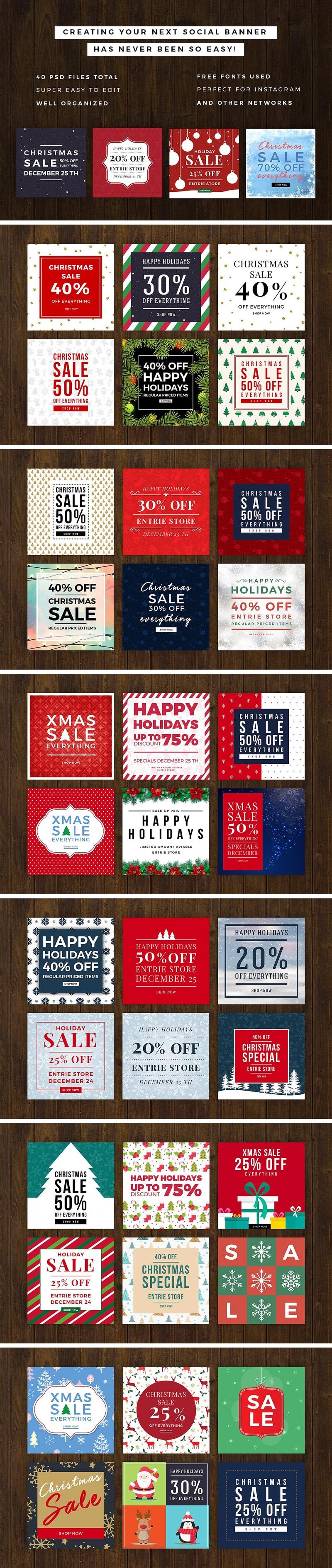 40 Christmas Promo Banners