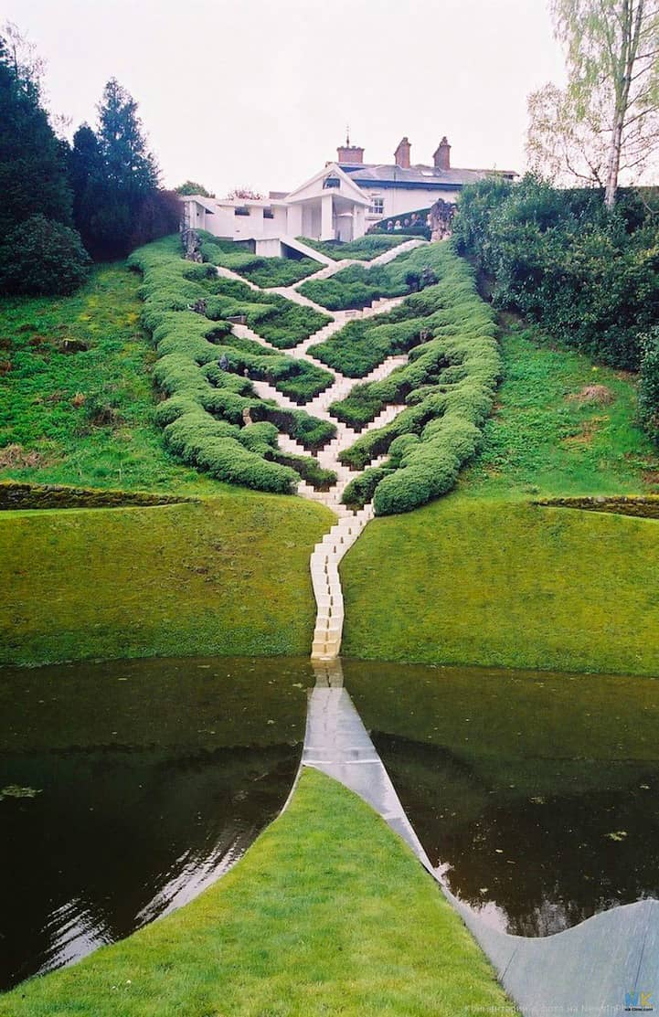 At the Garden of Cosmic Speculation, Dumfries, Scotland
