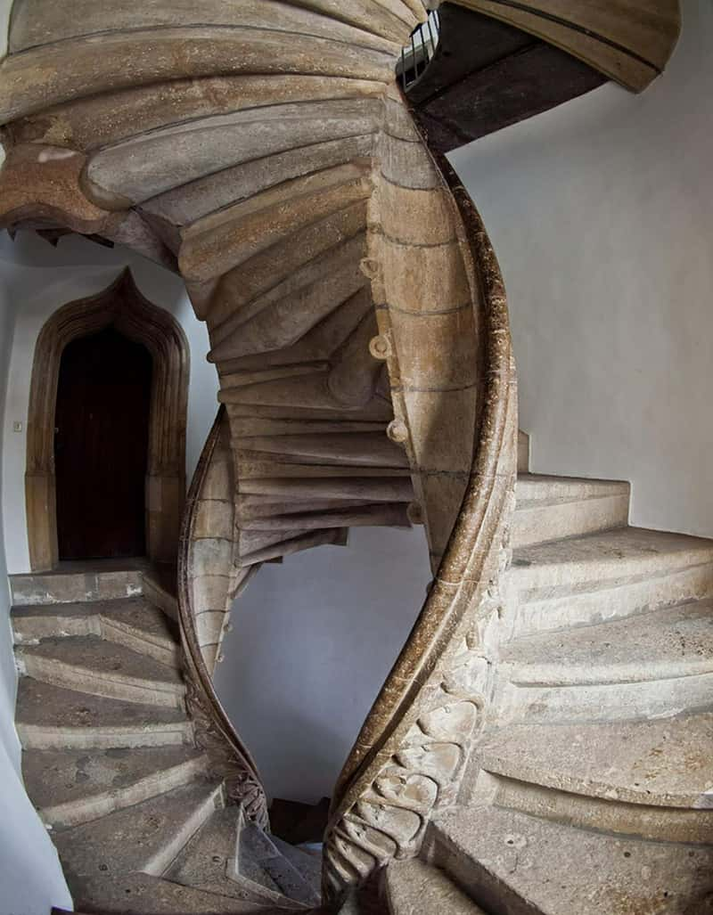 Double Spiral stairs in Graz, Austria