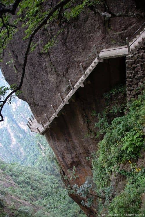 Tourist Stairway – Huangshan Mountain, China