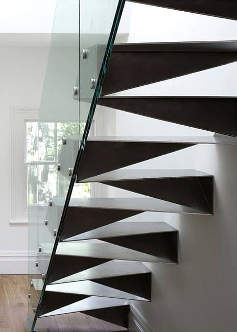"Folded steel ""origami"" stairs by Bell Phillips"