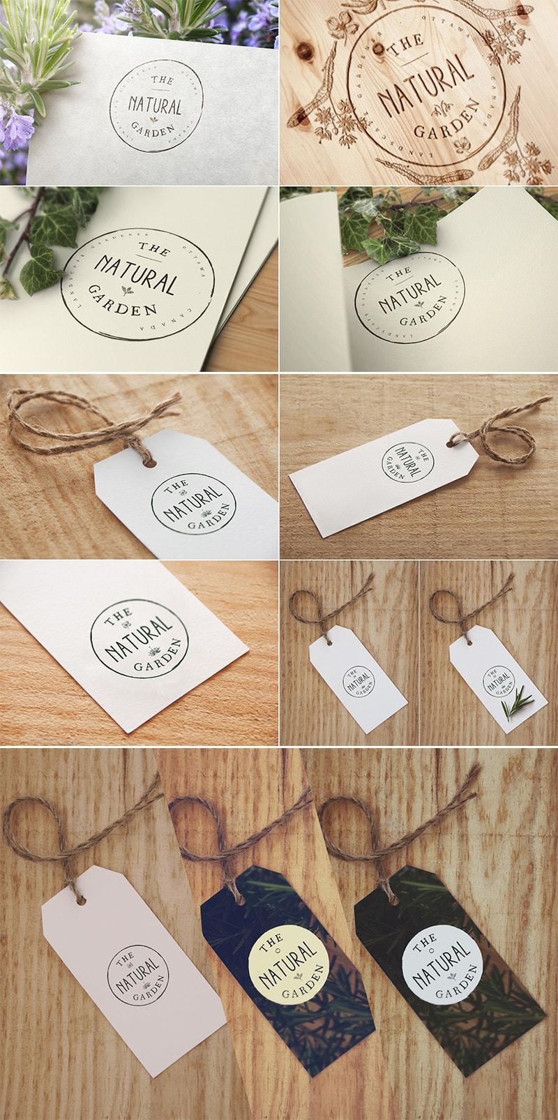 8 Label & Logo Mock Ups