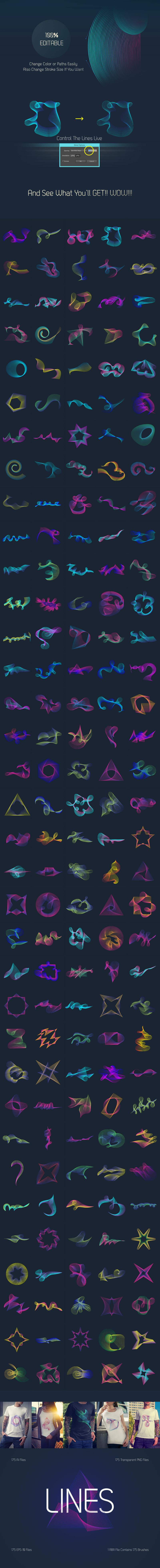 Abstract Line Art – 170+ Vector Elements Pack