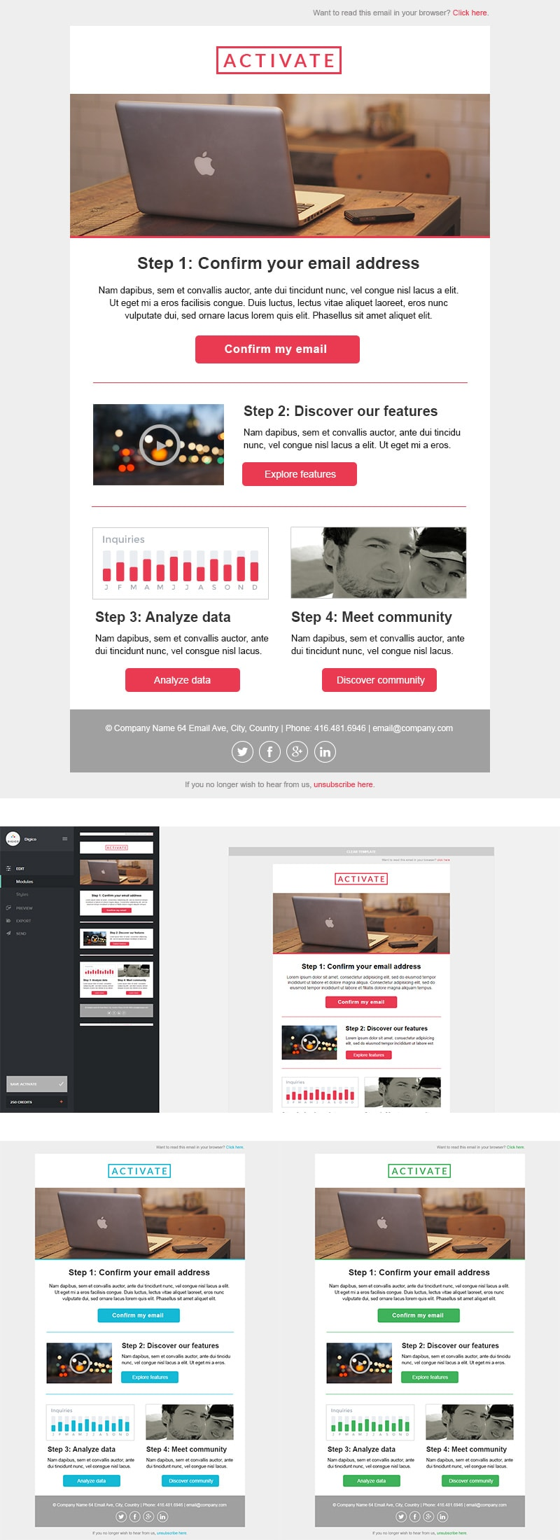 Activate Email Template + Builder