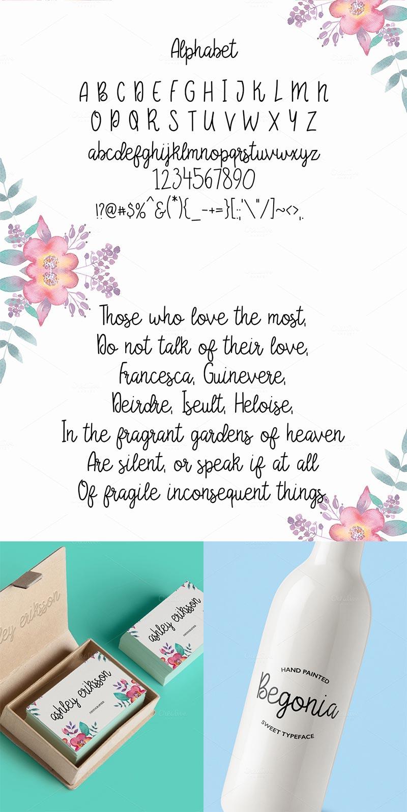 Begonia Script