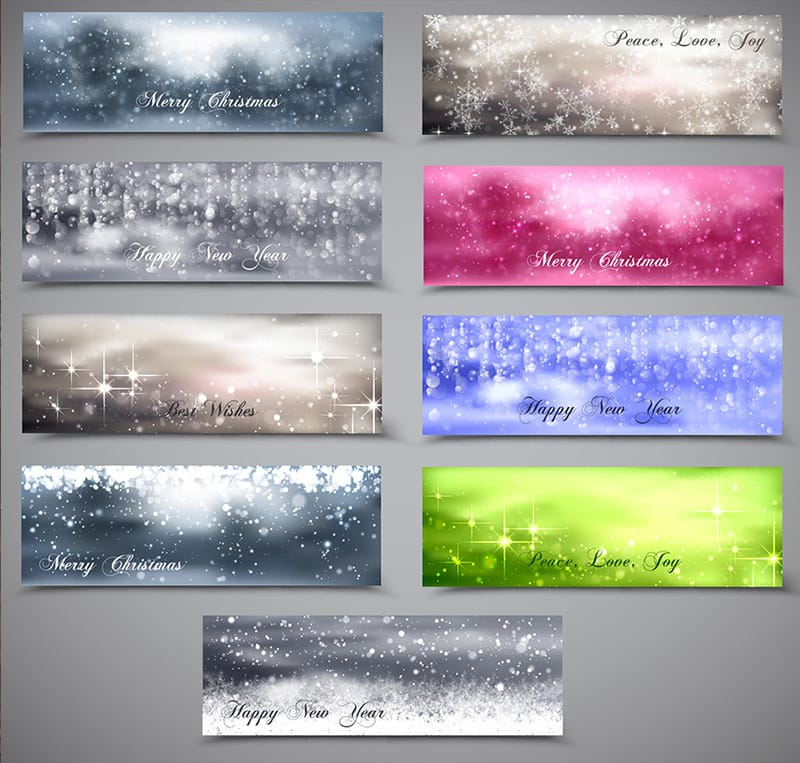 Blurry And Snowy Xmas Banner Pack