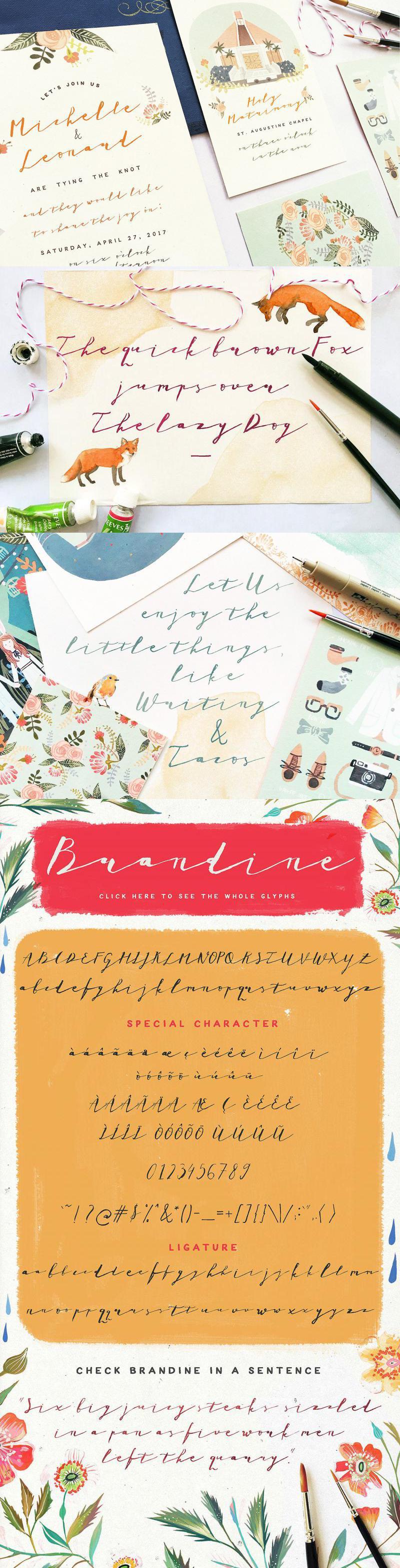 Brandine Script