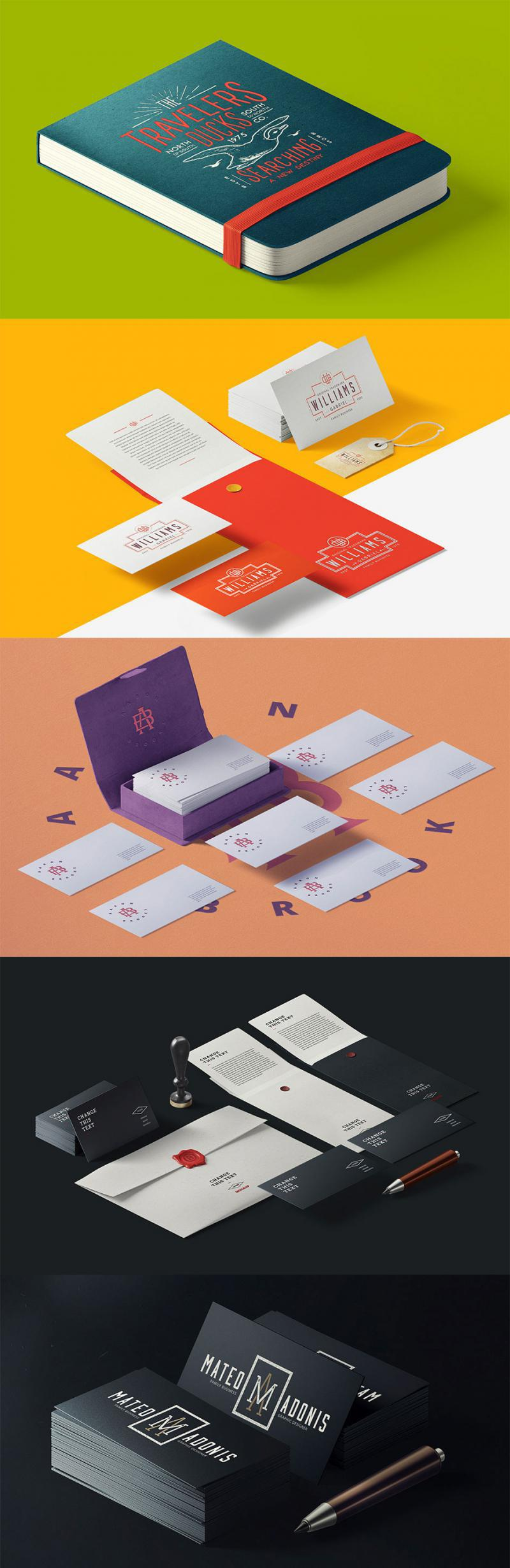 Cards and Envelopes Mockups
