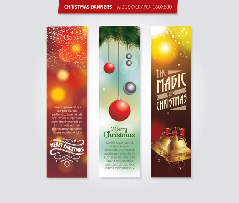 Christmas 160×600 Wide Skycraper Banners