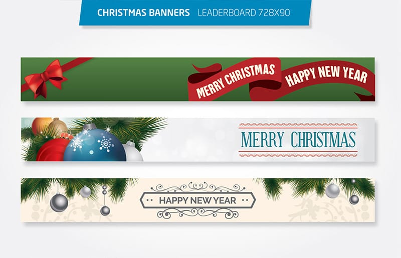 Christmas 728×90 Leaderboard Banner Template