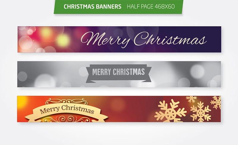 Christmas Half Page Ad Banners Set