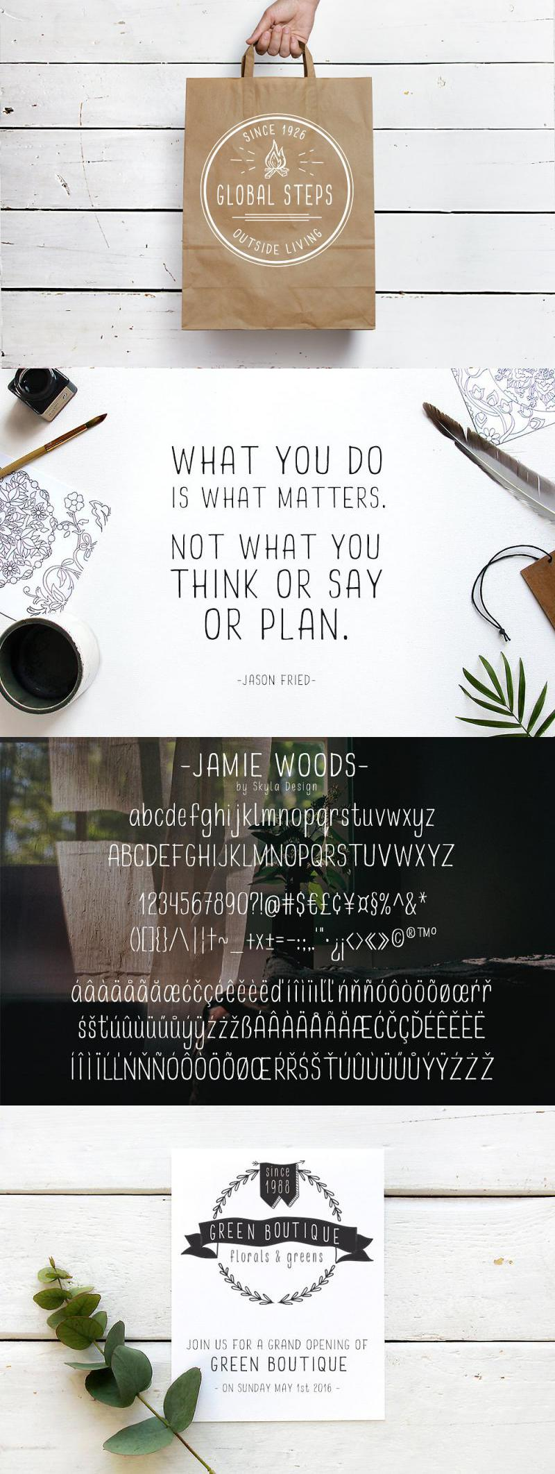 Condensed Sans Serif, Jamie Woods