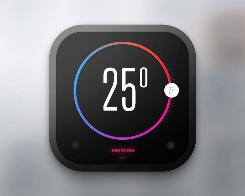 Day 020 - Thermostat Widget