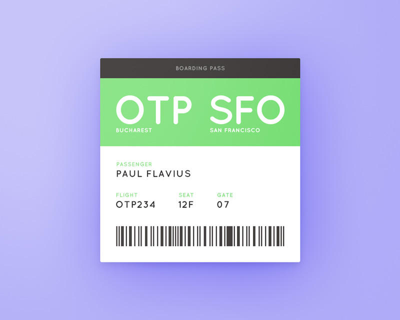 Day 074 - Boarding Pass