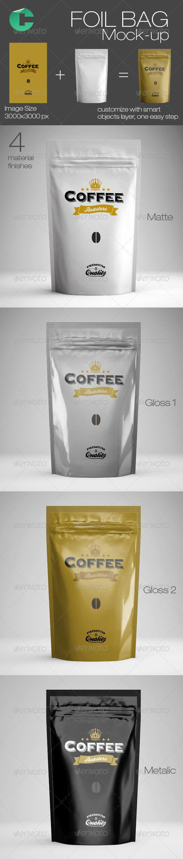 Foil Bag Mock-up | Food and Drink