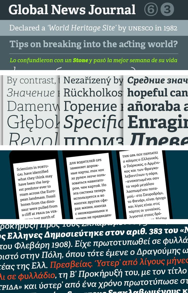 Font Adelle Cyrillic