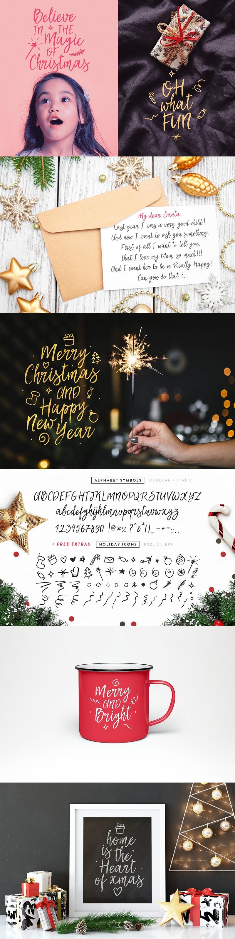 Font My Dear Santa