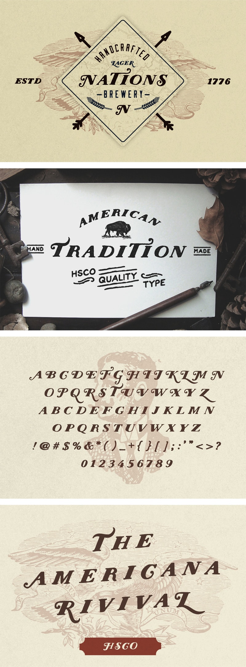 Шрифт Nations - Hand Drawn Font