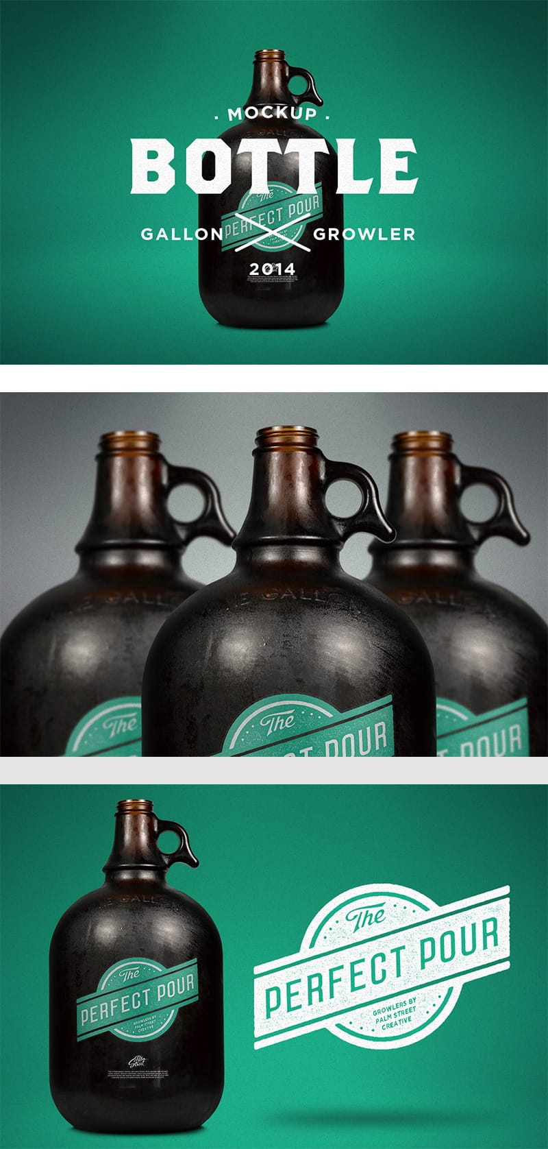 Gallon Growler Mockup