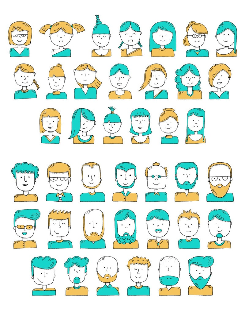 Hand-Illustrated Avatars