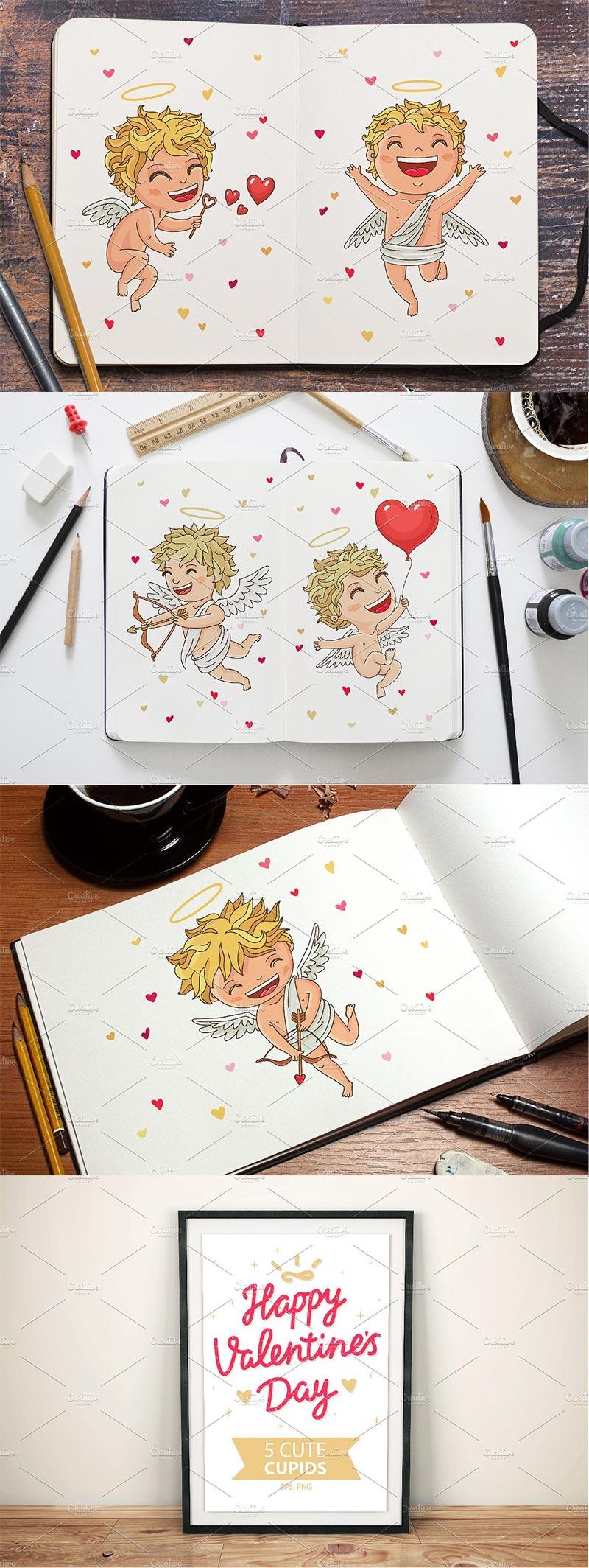 Happy Valentine's Day – 5 Cupids