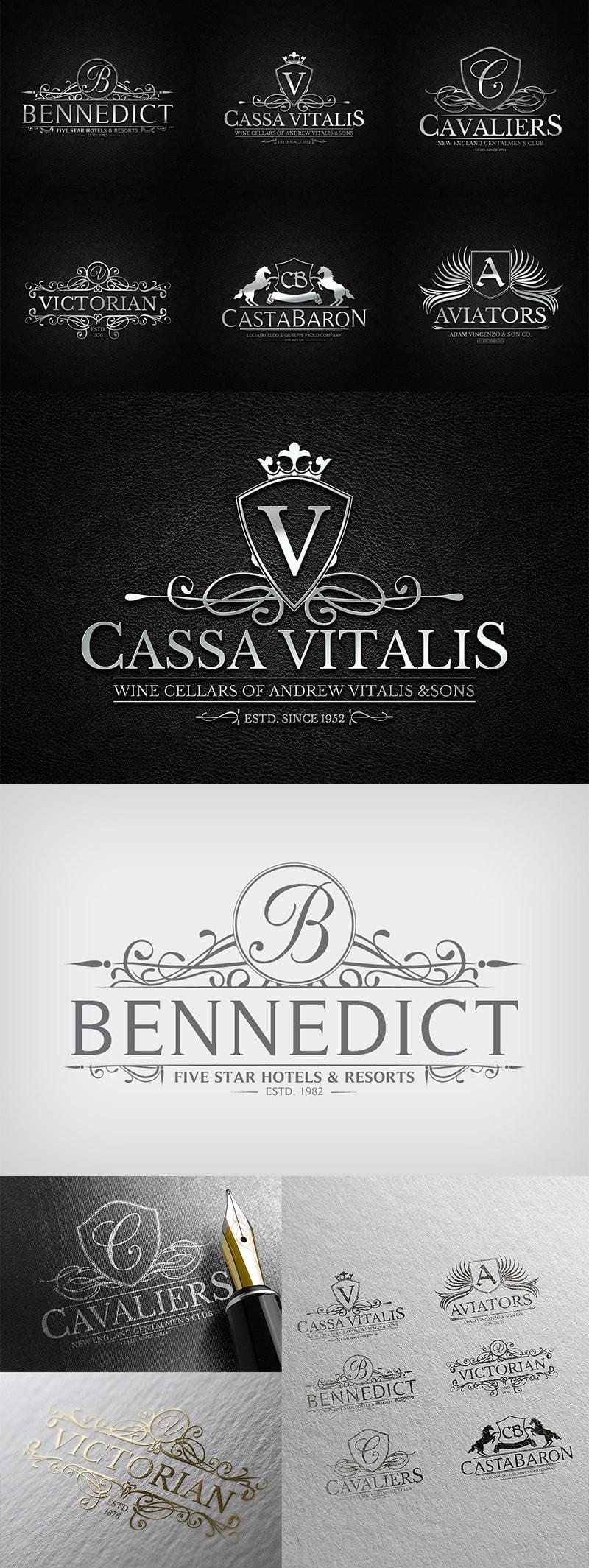 Heraldic Crest Logos Vol.3