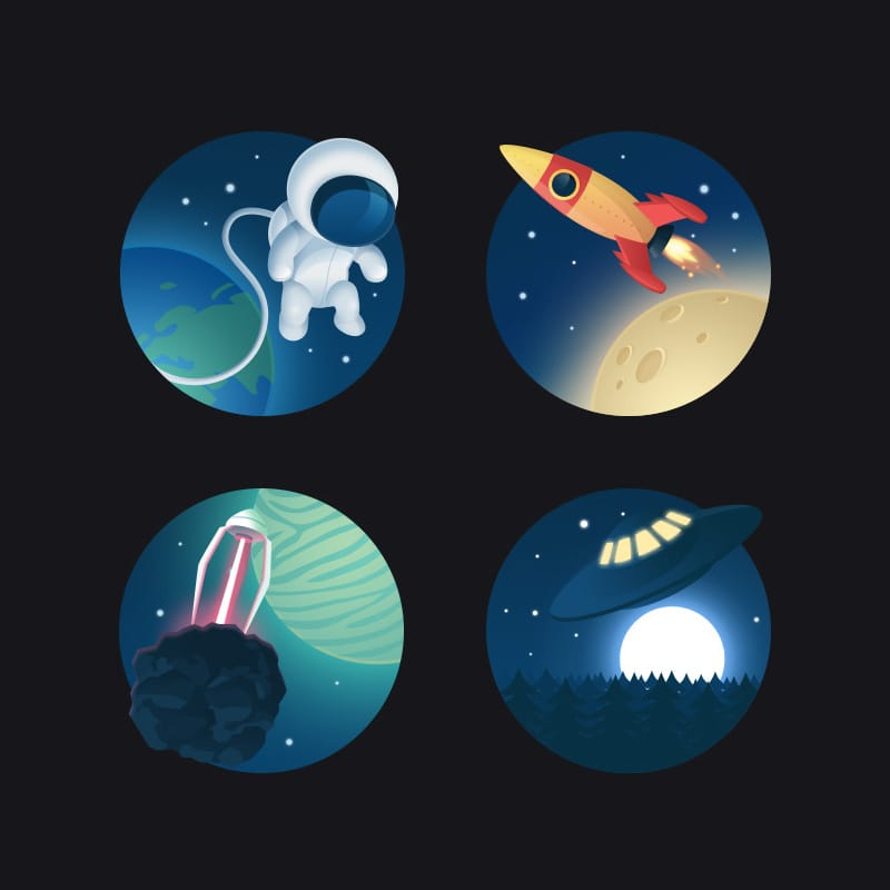 Icon Set Cosmos 1