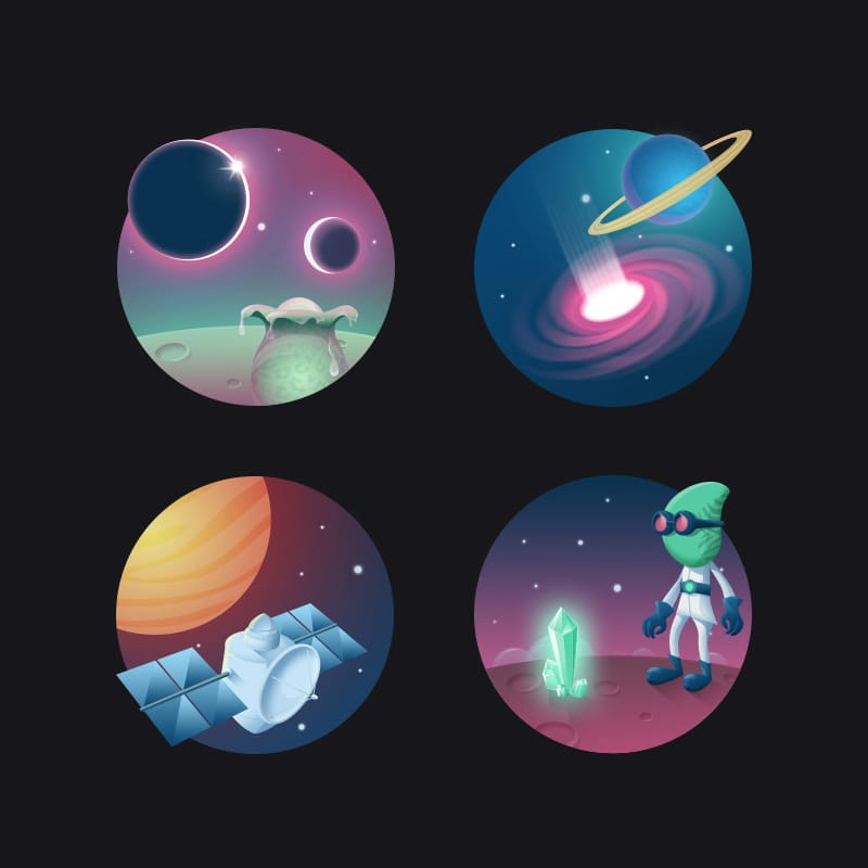 Icon Set Cosmos 2
