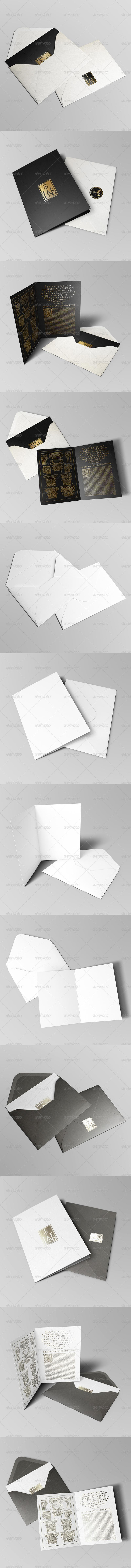 Invitation & Greeting Card Mockup Pack II