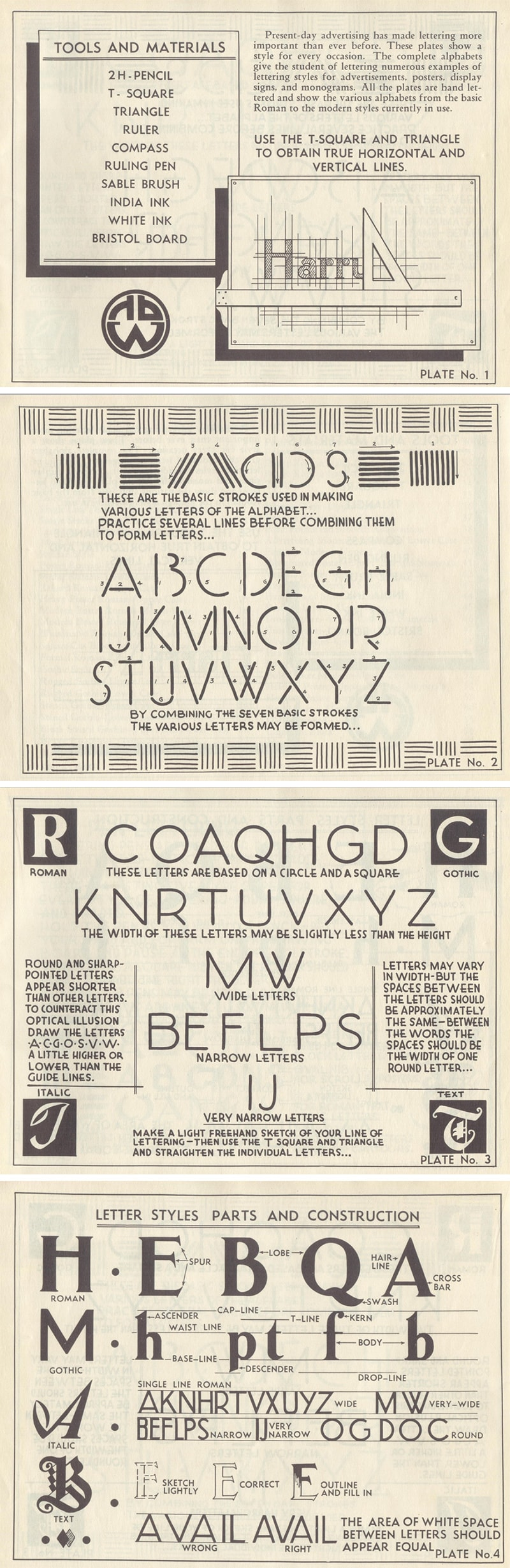 Lettering by Harry B. Wright
