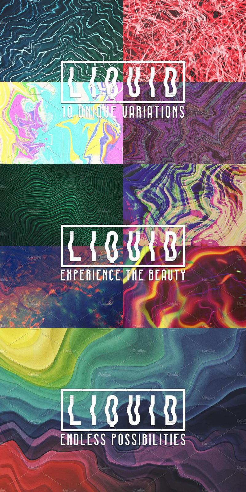 Liquid: 10 Abstract Backgrounds