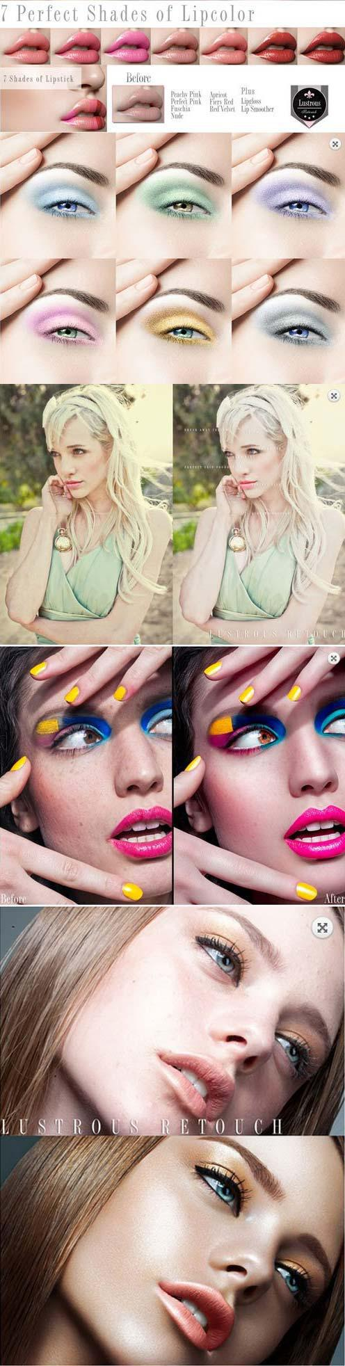 Lustrous Retouch Photoshop Actions