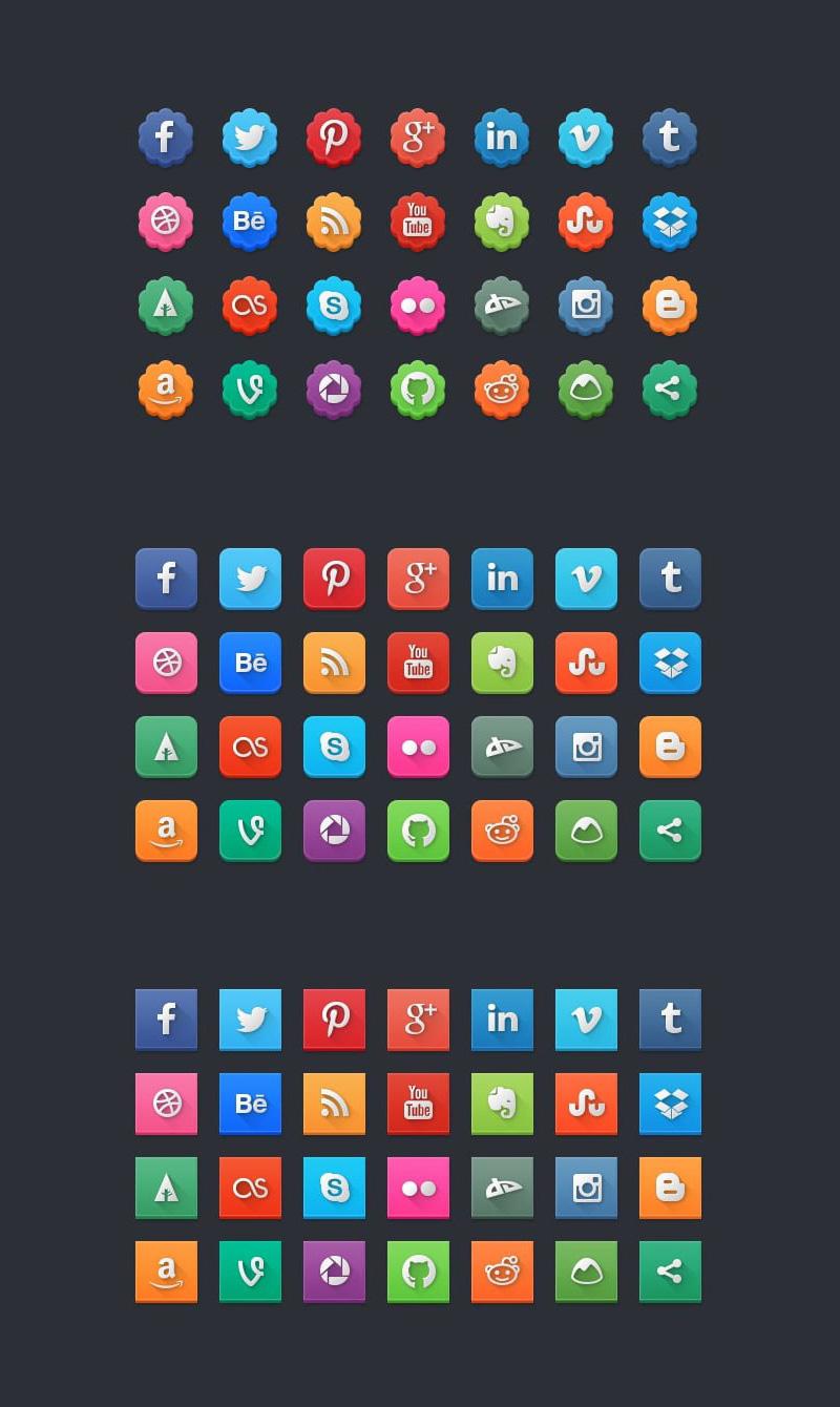 Modern Social Media Icon Pack