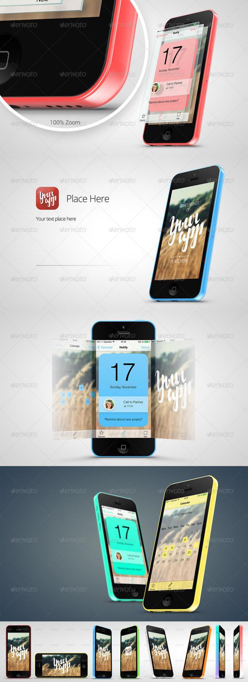 Phone 5c App Mock-Up