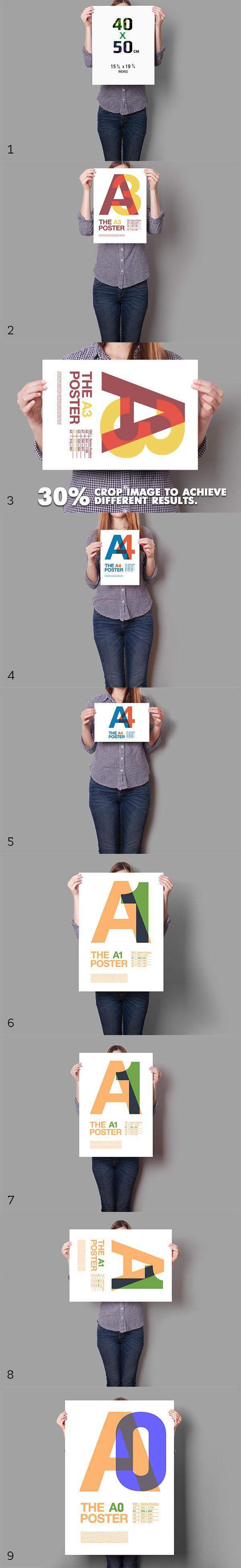Poster Mockup 10 Different Images