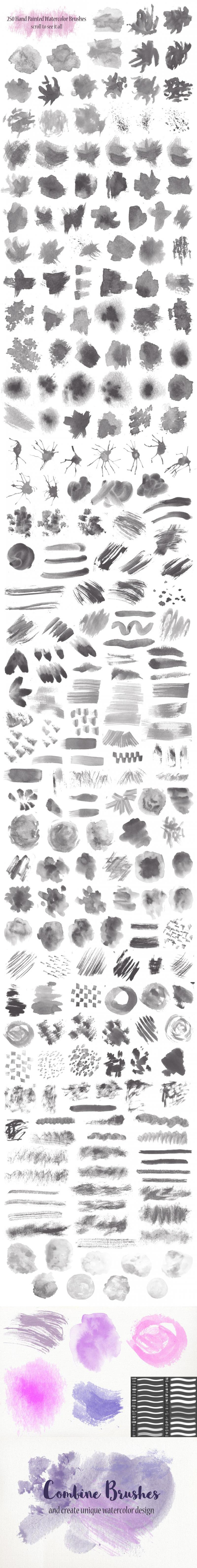 PS Watercolor Brush Kit 250 brushes