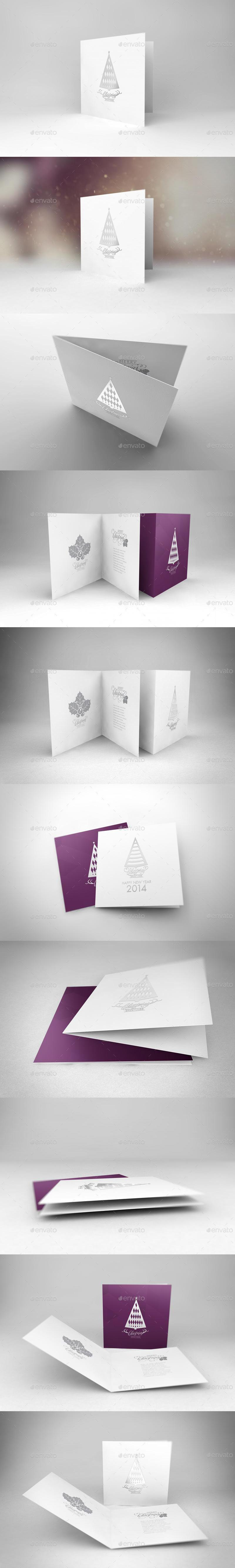 Realistic Greeting Card Mockups
