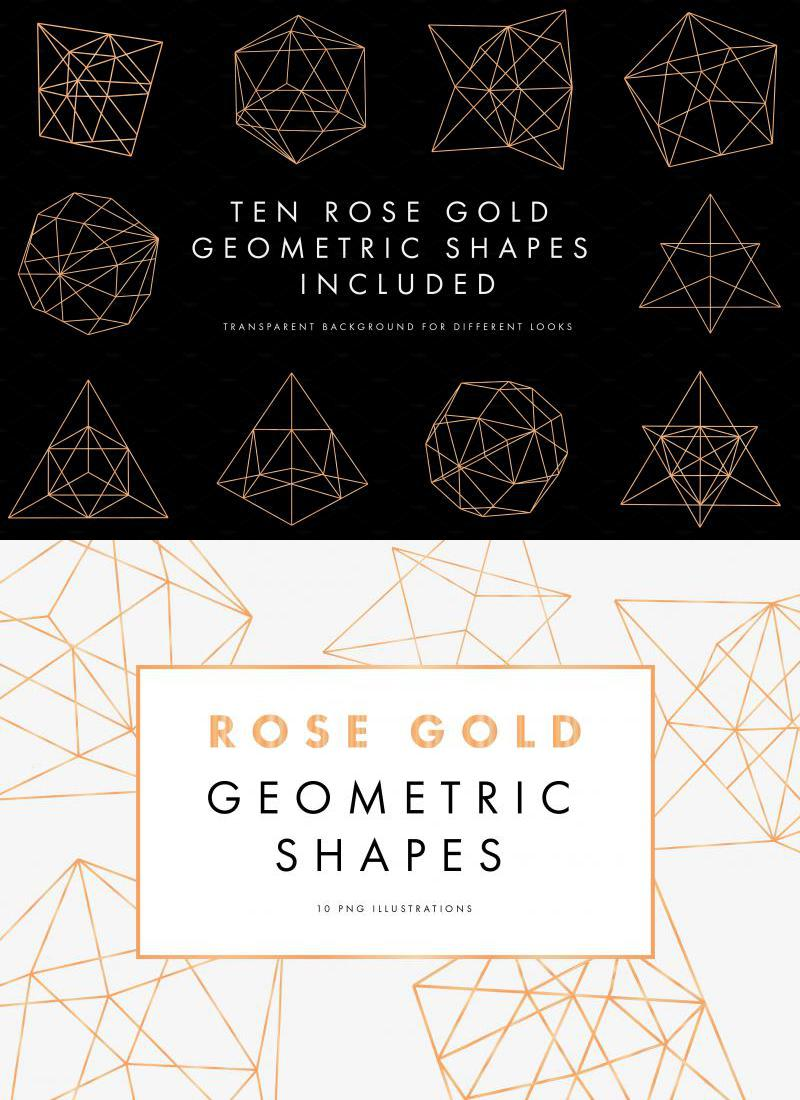 Rose Gold Geometric Pattern