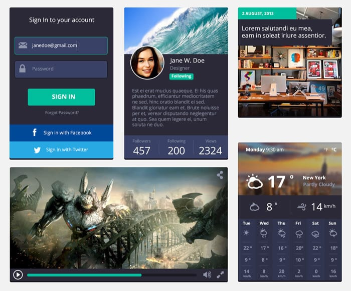 Rounded Square UI Kit