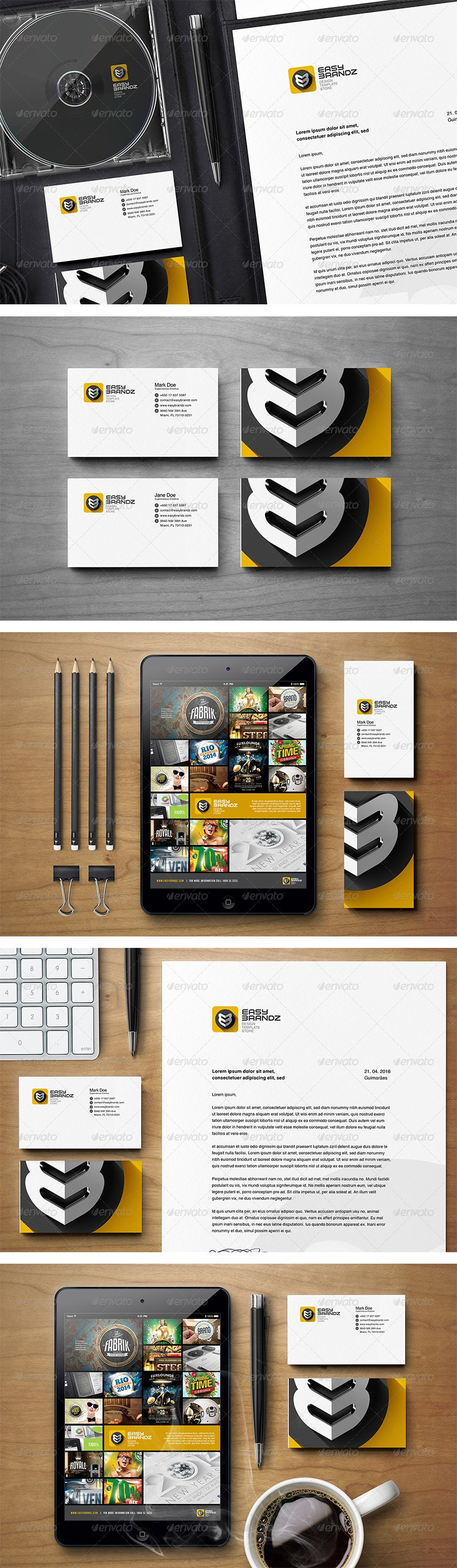 Stationery Mockups Vol. 01