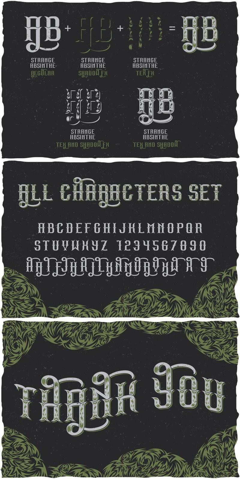 Strange Absinthe Label Typeface