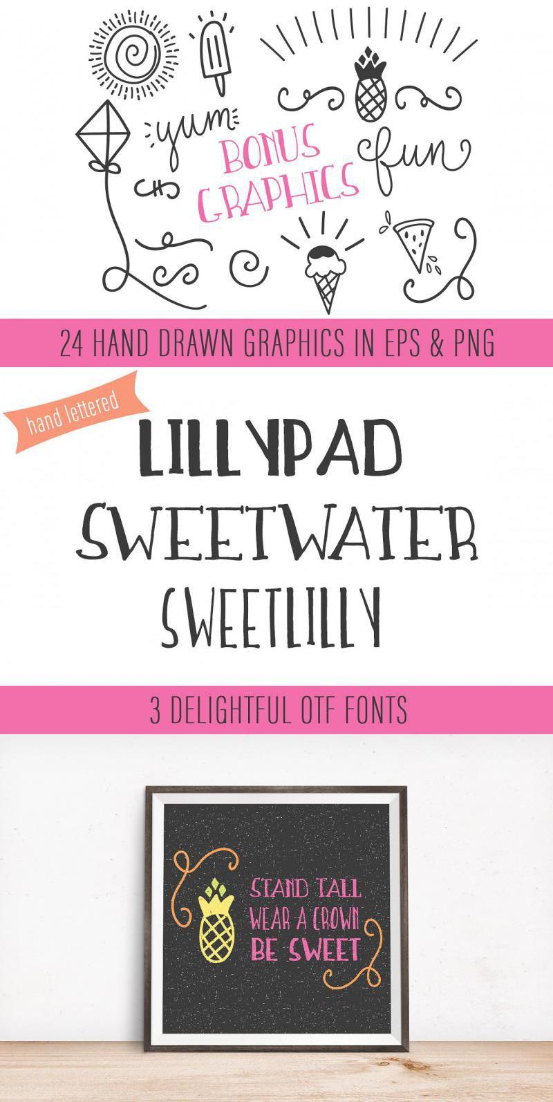 Sweetwater Handwritten Font Trio