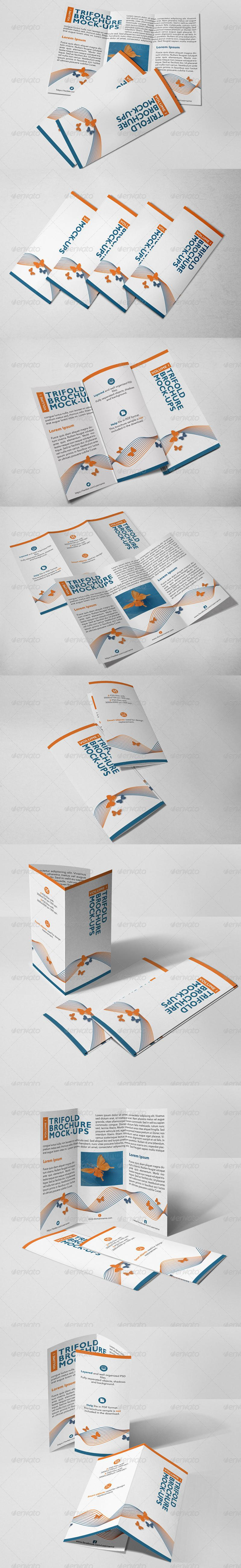 Trifold Brochure Mock-Ups (Vol.1)