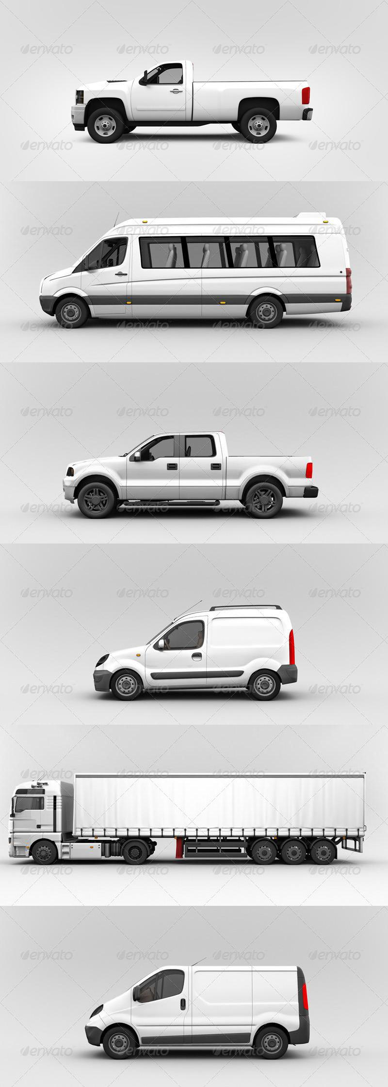 Van & Delivery Cars Branding Mockup Vol. 2