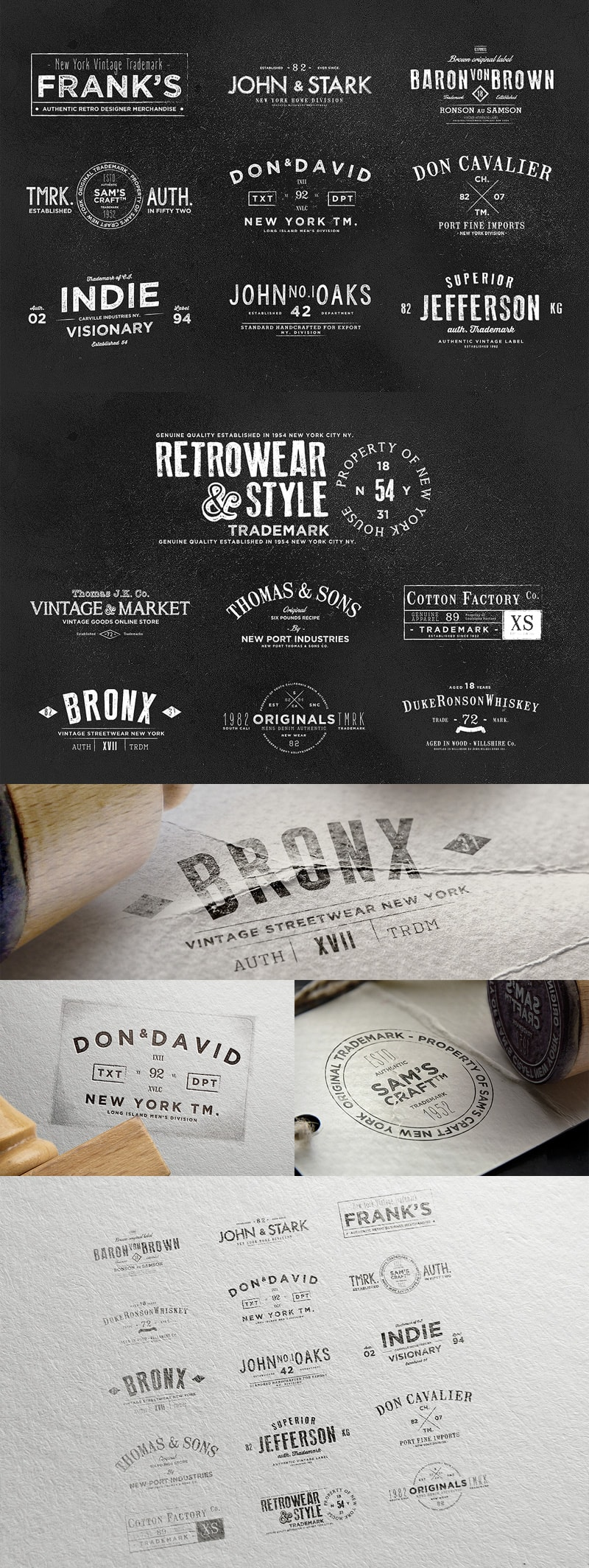 Vintage Labels & Logos Vol.6