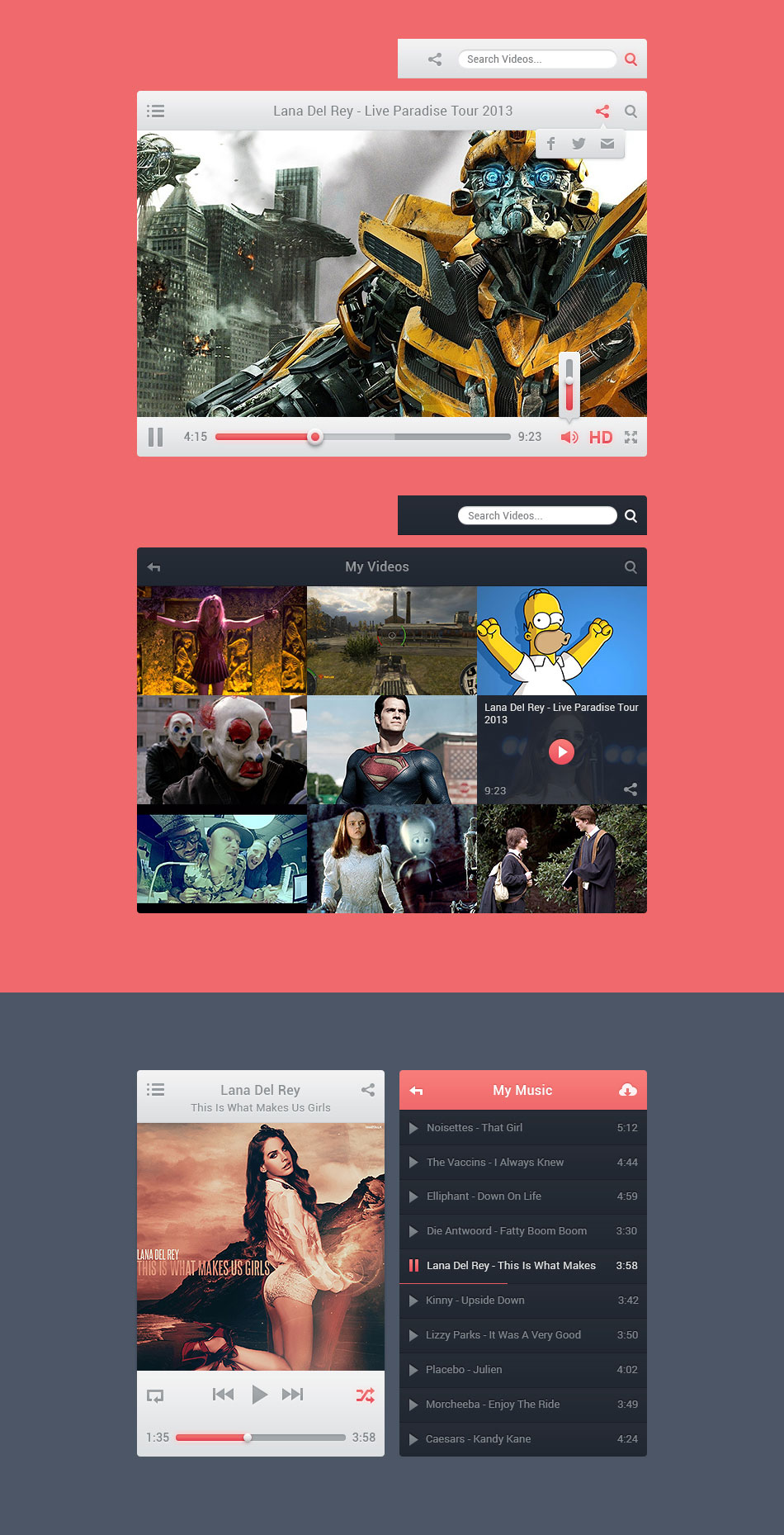 Viro Media Players UI Full